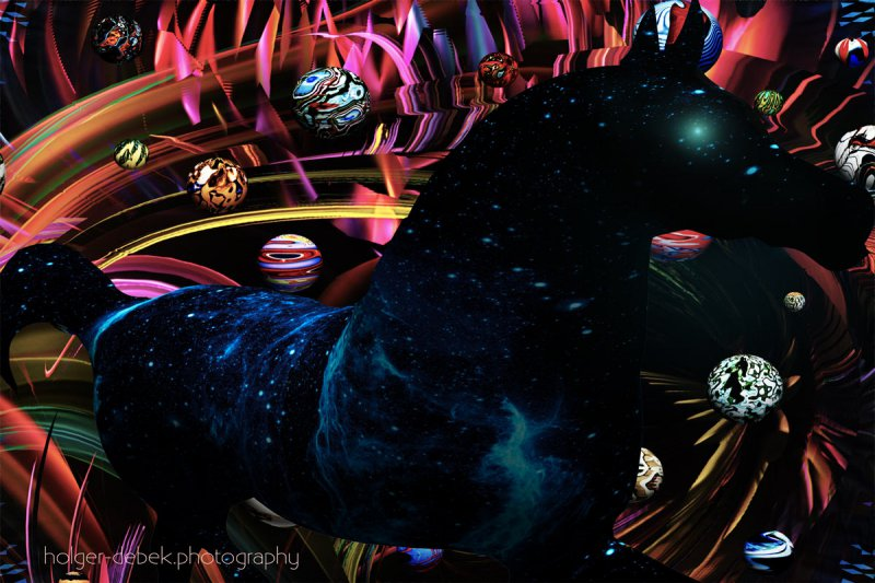 Digital Art - The universe is just a horse within another universe
